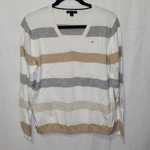 Tommy Hilfiger | men's striped deep vneck pullover